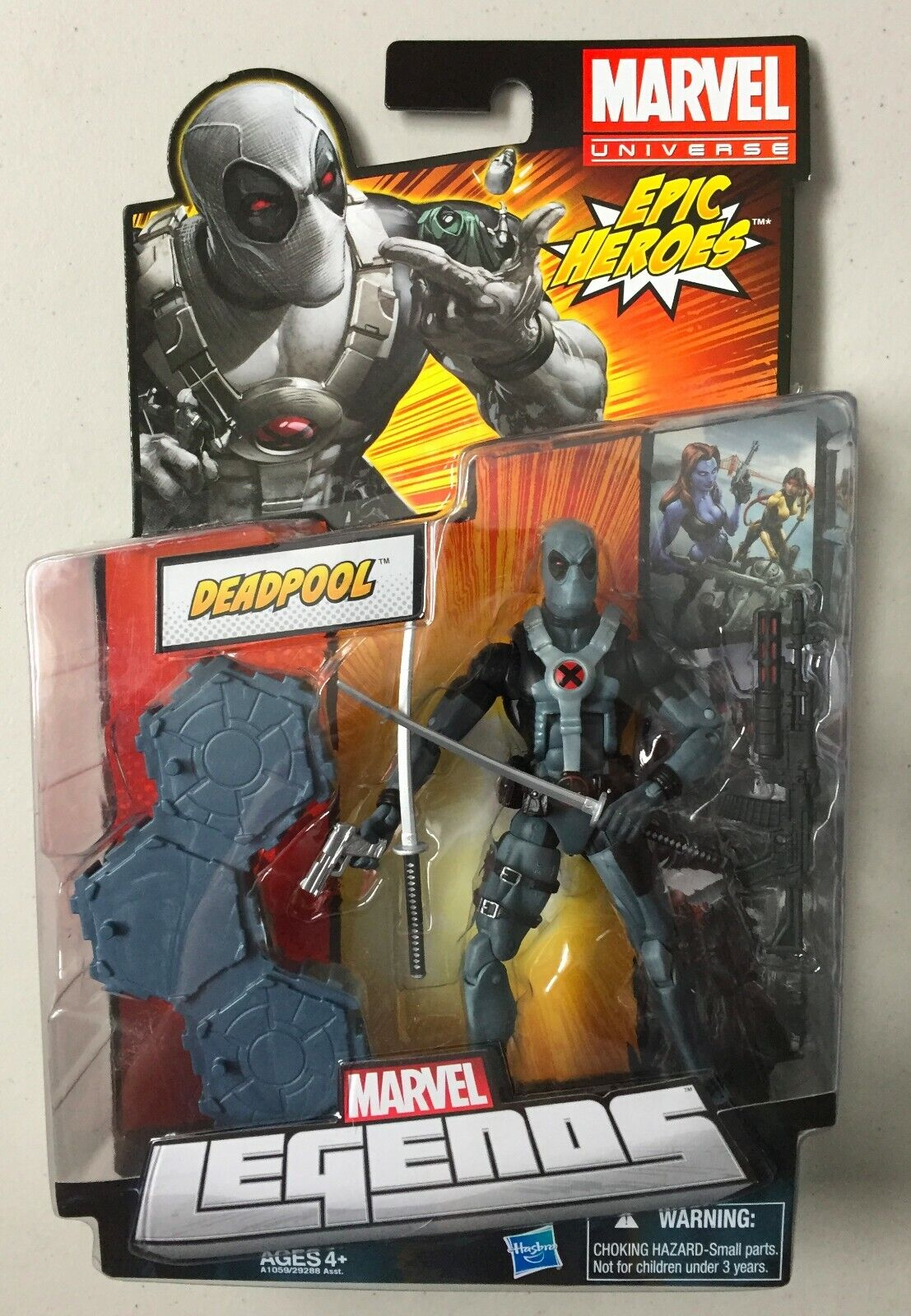 Marvel Legends 6  Action Figure X-FORCE GREY SUIT DEADPOOL XMEN