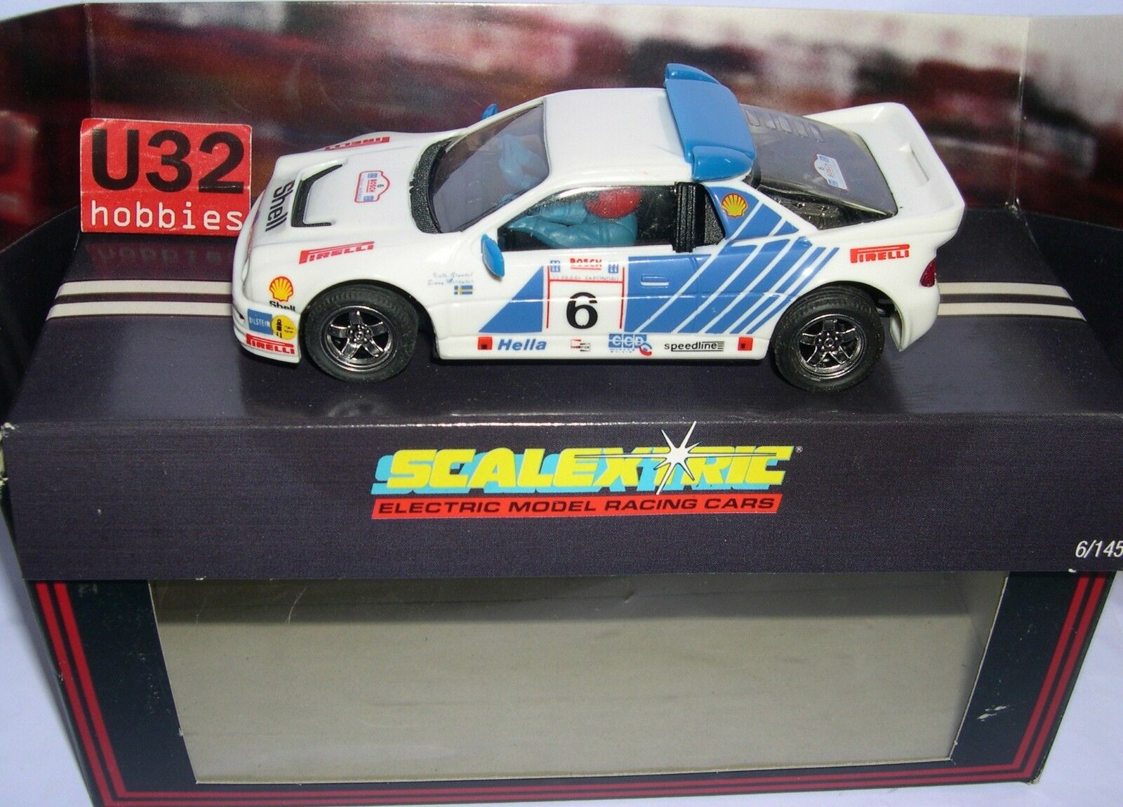 In scalextric c432 ford rs200   6 shell (exin export tampography)