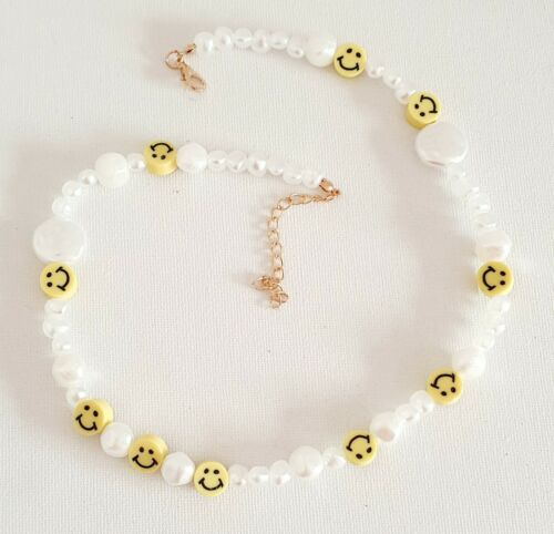 Seed Pearl Style Smiley Face Necklace 90s Other Bloggers Stories Mango
