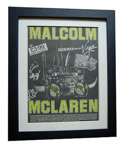 MALCOLM-McCLAREN-Duck-Rock-POSTER-AD-RARE-ORIGINAL-1983-FRAMED-FAST-GLOBAL-SHIP
