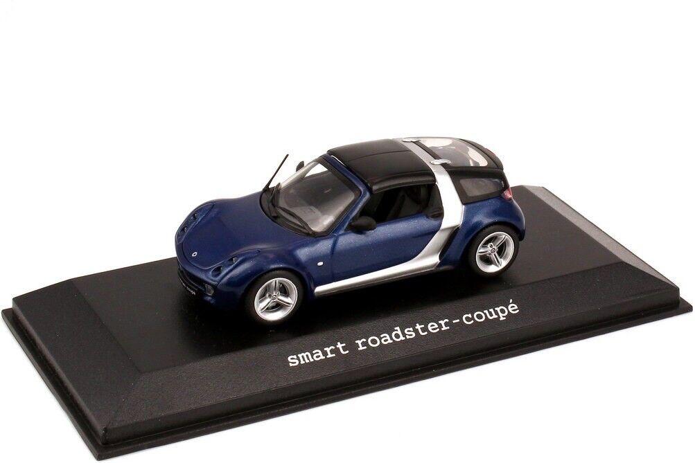 Mercedes Smart Voiture Roadster Coupé C452 Star bleu 1 43 Minichamps (concessionnaire modèle)