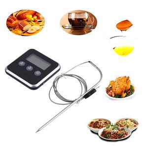 Digital-Display-C-F-Food-Thermometer-Probe-Timer-Meter-Magnet-Cooking-Food-RB