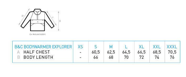B&C Herren Herren Herren Weste mit Reißverschluss Bodywarmer 5 Taschen S M L XL 2XL 3XL | Sehr gute Qualität  5ac87a