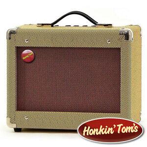 Honkin-039-Tom-039-s-Vintage-Style-15W-Tweed-Guitar-Amplifier-Amp-Blues-tone