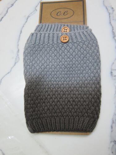 New CC Women Winter Popcorn Stitch Button Boot Cuff