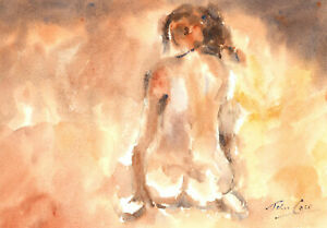 John-A-Case-Signed-20th-Century-Watercolour-Nude