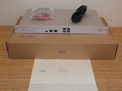 **new** Cisco Meraki Mx80 Firewall Security Appliance A80-17100