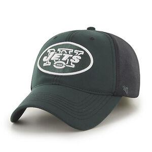 86d3ceff1 New York Jets 47 Brand Game Time Closer Hat Stretch Fit Flex Cap ...
