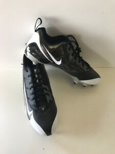 NEW-Nike-Super-Speed-D-Low-Football-Cleats-Black-White-318745-001