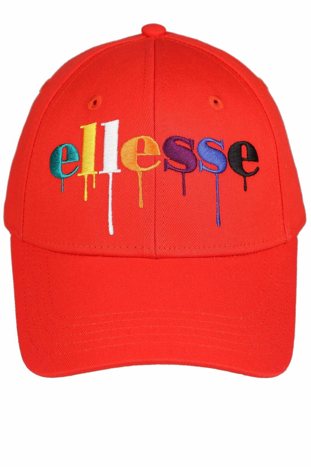 ELLESSE Suzanio Farbe Tropf Baseball Kappe Rot