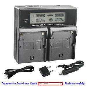 Kastar Lcd Dual Cargador Rápido De Batería Para Sony BP-U30 BC-U1 BC-U2 & Sony PHU-60K