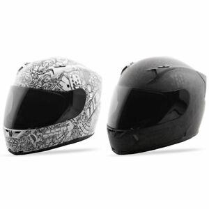 White//Black Fly Racing Revolt FS Ink´n Needle Motorcycle Full Face Helmet