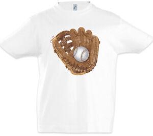 Baseball-Glove-Kinder-Jungen-T-Shirt-Player-Spieler-Liebe-Field-Handschuh-Feld