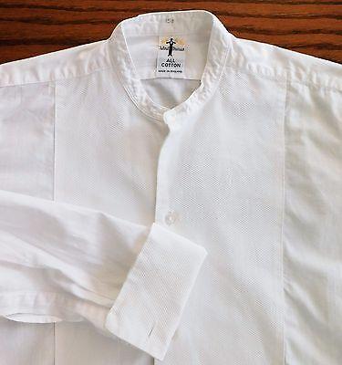 Akco Marcella tunic shirt size 15.5 vintage English men's dress wear 1950s 1960s