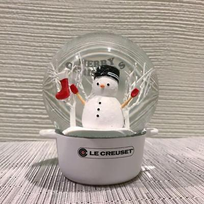 Authentic Le Creuset Christmas Snow Dome 2016 red