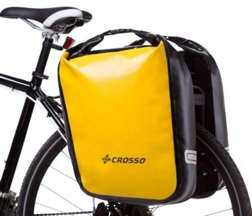 Crosso Bicycle Dry Panniers 60L Pair 100/% Waterproof Plastel Adventure Touring