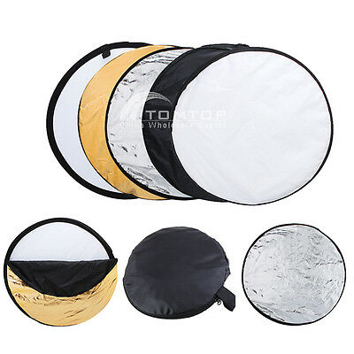 """60cm 24"""" 5in1 Multi Photography Photo Studio Disc Collapsible Light Reflector TZ"""
