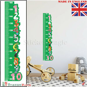 Height-Chart-Animal-as-Numbers-Kids-Wall-Stickers-Nursery-Decor-Vinyl-Decal-Art