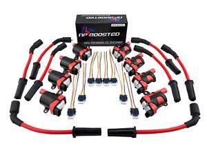 10mm Plug Wires 8 Hi Output Performance Ignition Coil Packs Gm Lq4