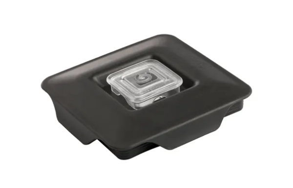 Soft Vented Gripper Mix-in with Square Clear Plug Blendtec Lid