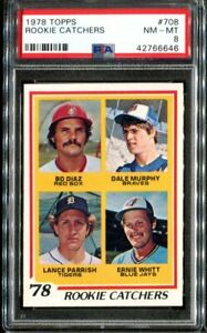 1978-Topps-708-Rookie-Catchers-Dale-Murphy-RC-PSA-8