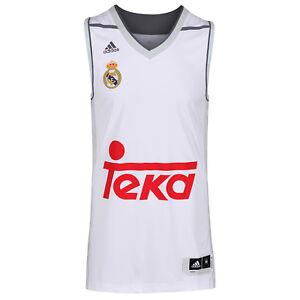 brand new ac742 c8dfc La imagen se está cargando Adidas-Real-Madrid-Baloncesto-Camisetas-Top -HOMBRE-S-M-L-