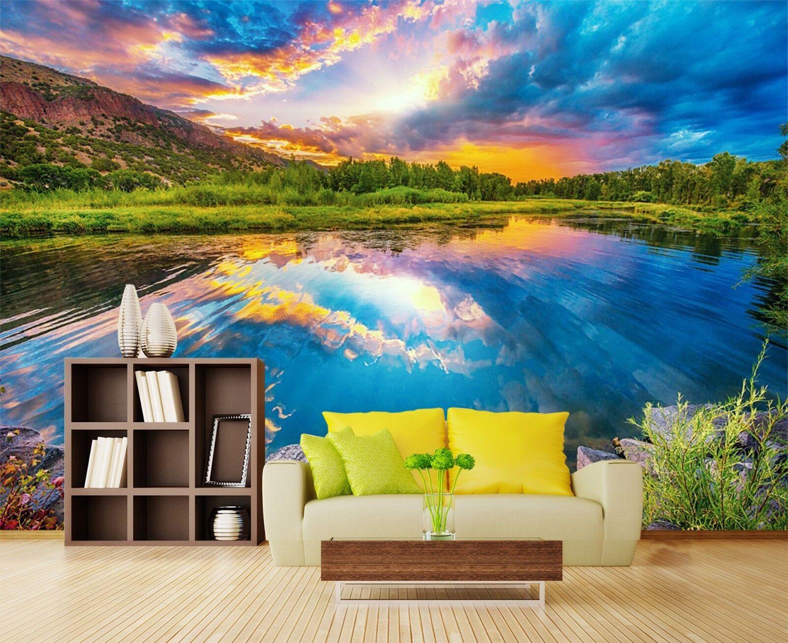 3D Wolke Berg Landschaft 9083 Tapete Wandgemälde Tapeten Bild Familie DE Lemon