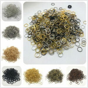 4-6-8-10mm-Metal-Open-Jump-Rings-Split-Rings-Connectors-For-DIY-Jewelry-Making