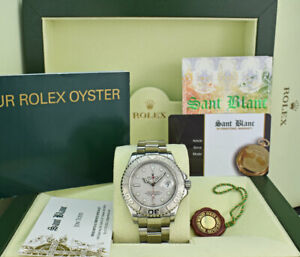 ROLEX - Mens 40mm Platinum & Stainless Steel YachtMaster 16622 - SANT BLANC