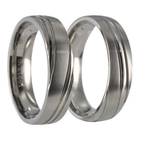 2 anillos de acero inoxidable grabado 20p009 anillos de amistad anillos de pareja alianzas incl