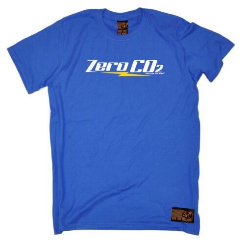 CICLISMO T-shirt Divertenti Novità T-Shirt Maglietta da uomo-ZERO Co2