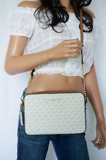 0bf3ad29de2e Michael Kors Jet Set Item PVC Vanilla Small Flap Crossbody Bag Purse ...