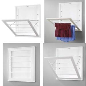 Details About Whitmor Wall Mounted Drying Rack White