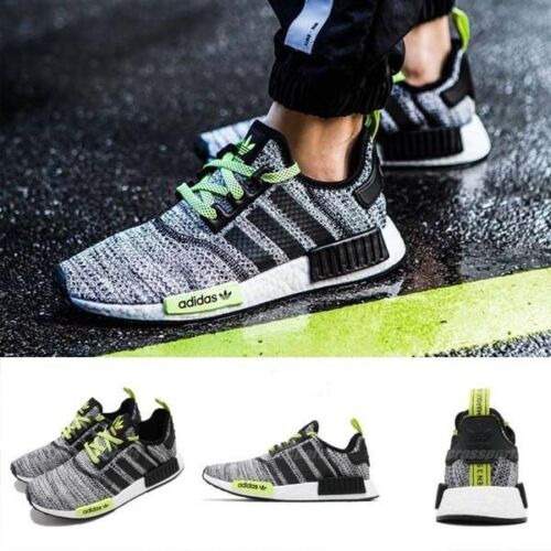 New adidas NMD R1 Mens sneaker black gray volt all sizes