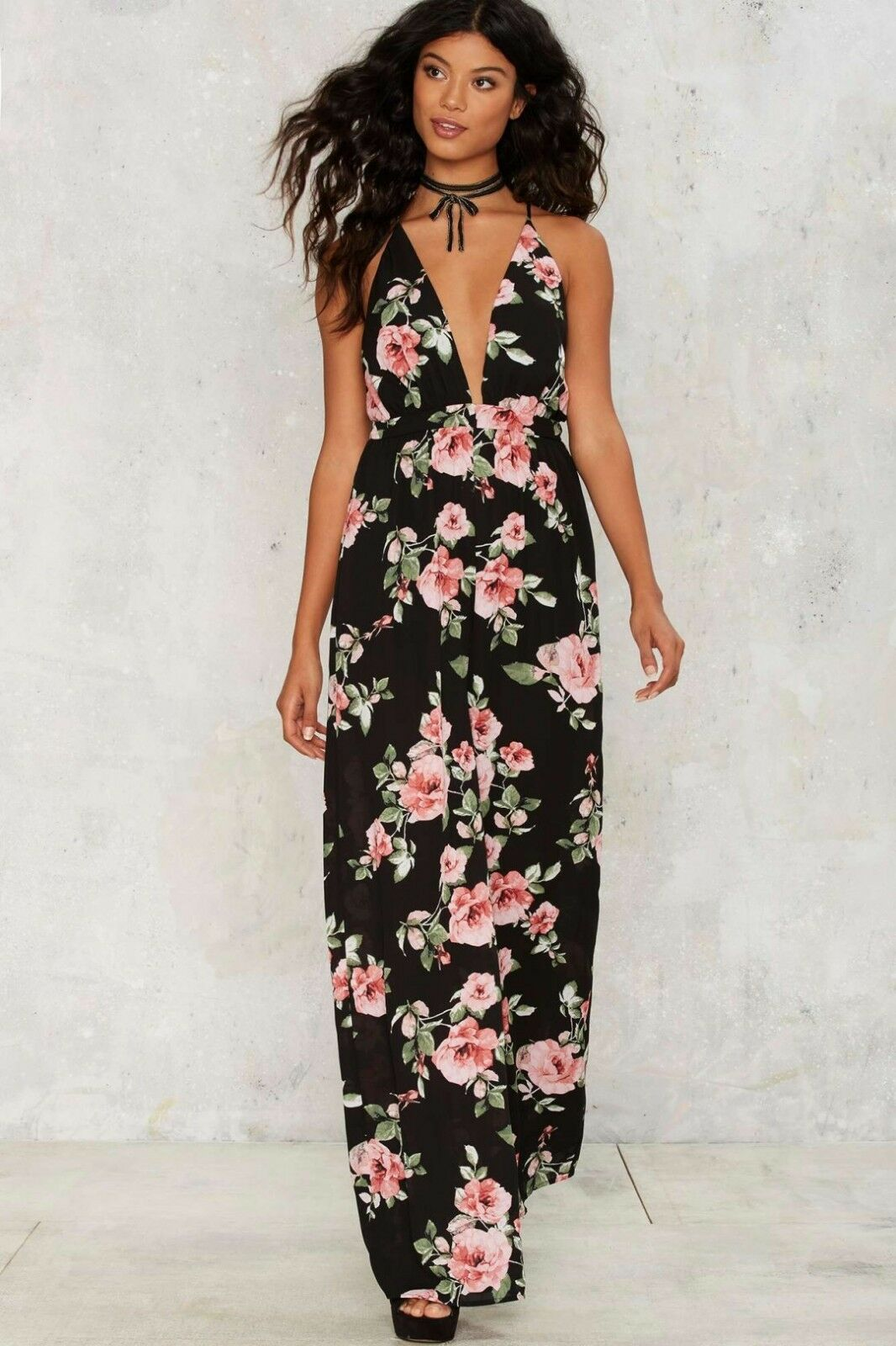 Nasty Gal 4SIENNAI Nothing But pinks Floral Jumpsuit Size S M  78