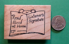 Read Aloud at Home Teacher's Rubber Stamp, wood mounted