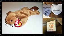 Bucky Ty Beanie Baby Rare ERRORS Ty STICKER No Red Star/Stamp PVC Waterlooville