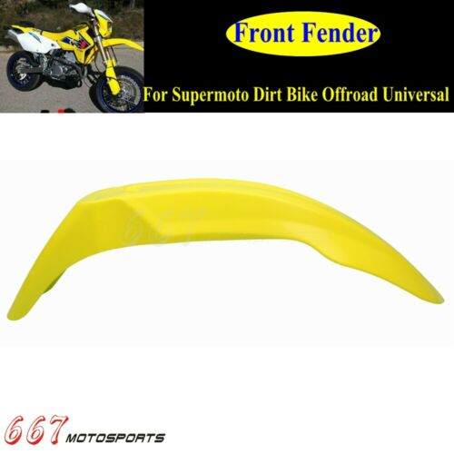 Supermoto Dirt Bike Front Fender Mudguard For Suzuki RMZ250 RMZ450 DRZ400 DR650