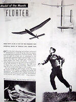 Vintage Floater Jasco & Jetco Gliders Ff / Rc Model Airplane Plans + Articles