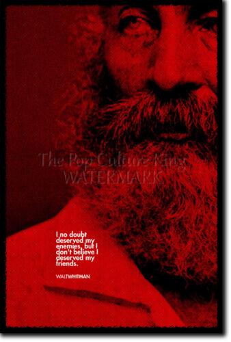 Walt Whitman Impresión de Arte Foto Afiche Regalo citar Walter Witman Poeta Poema