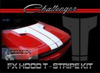 2010 Dodge Challenger Split Hood T Stripe Kit Top Quality 3m Stripes