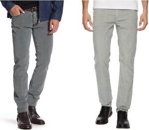 Vaqueros Levis 511 Slim Fit De Pana Para Hombre Pantalones Corda N Ela Stico Gris Frente Plano Ebay