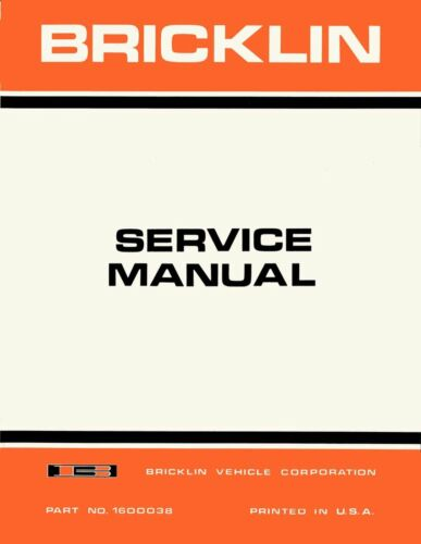 Bishko OEM Repair Maintenance Shop Manual Bound for Bricklin All Models 1974