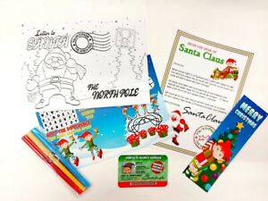 Elf-Christmas-Gift-Box-Filler-Pack-Includes-Letters-to-amp-from-Santa-Xmas-6-Items