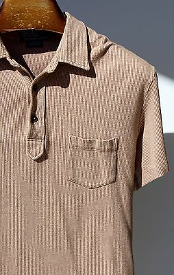 Polo by Ralph Lauren Large Lightweight Brown Pima Cotton Short-Sleeve Polo Shirt