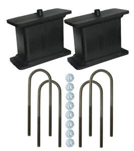 """4/"""" fab steel lowering blocks drop kit /& rear axle u bolts fits chevy S10 Sonoma"""
