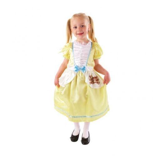 Child Goldilocks Costume Girls Nursery Rhyme Book Week Day Fancy Dress Outfit