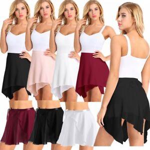 Women Adult Ballet Dress Gymnastics Tutu Skirt Skate Dance Dress Leotard Costume