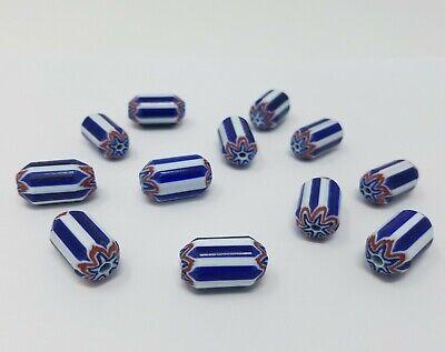Drapeau France Creation bijoux 10 Perles en Acrylique 10mm Bleu Blanc Rouge