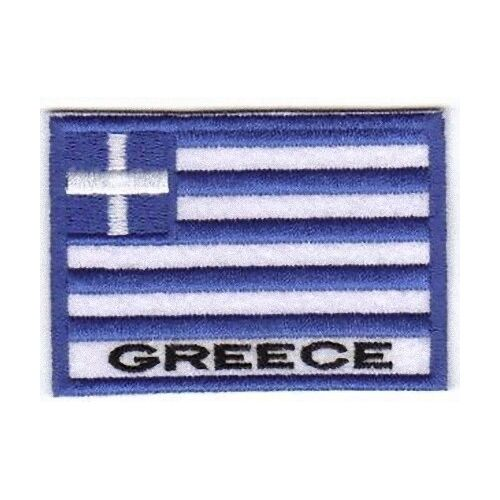 [Patch] BANDIERA GRECIA cm 7 x 5 toppa ricamata ricamo GREECE -272